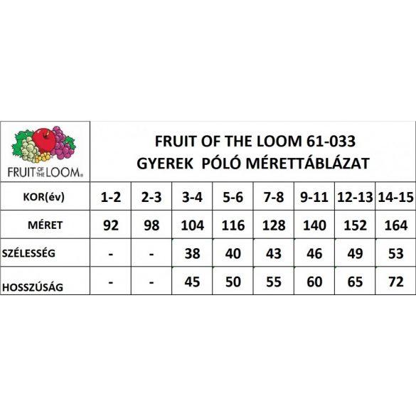 Fruit of the Loom gyerek póló, fűzöld