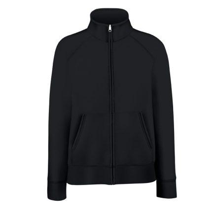 Női pulóver magasított gallérral, fekete