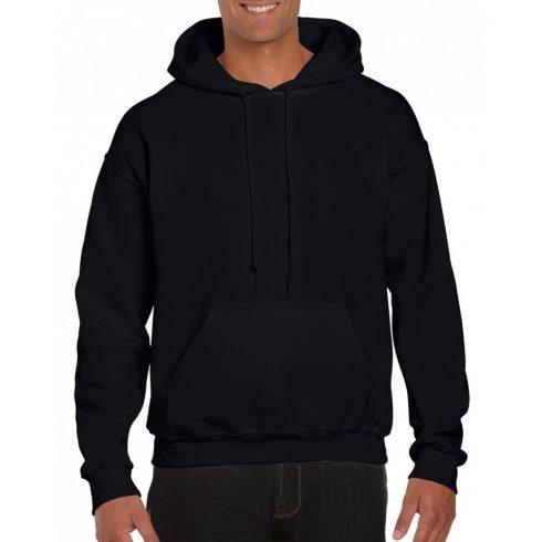 Gildan prémium kapucnis pulóver, fekete