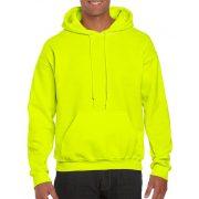 Gildan prémium kapucnis pulóver, biztonsági zöld