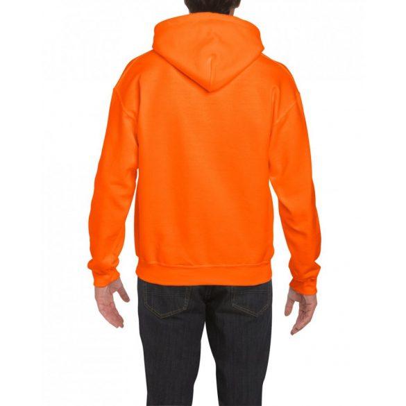 Gildan prémium kapucnis pulóver, biztonsági narancs