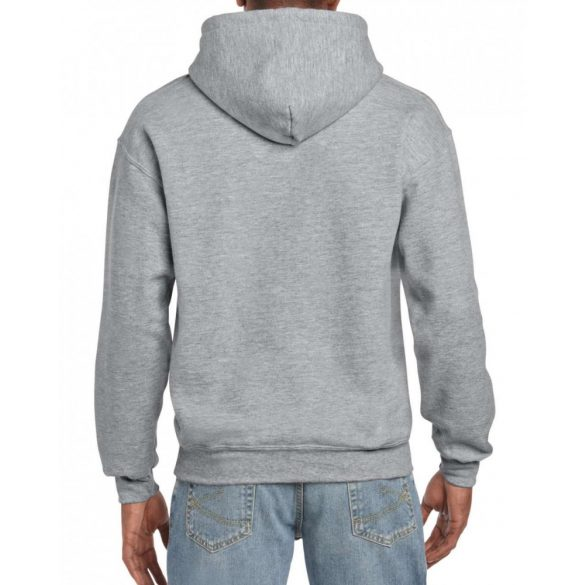 Gildan prémium kapucnis pulóver, szürke