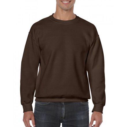 Gildan kereknyakú pulóver, étcsokoládé