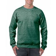 Gildan kereknyakú pulóver, Heather Sport Dark Green
