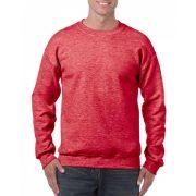 Gildan kereknyakú pulóver, Heather Sport Scarlet Red