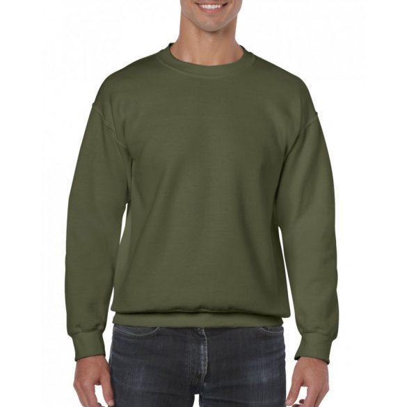 Gildan kereknyakú pulóver, katonaizöld