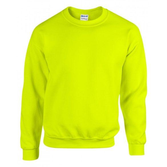 Gildan kereknyakú pulóver, biztonsági zöld