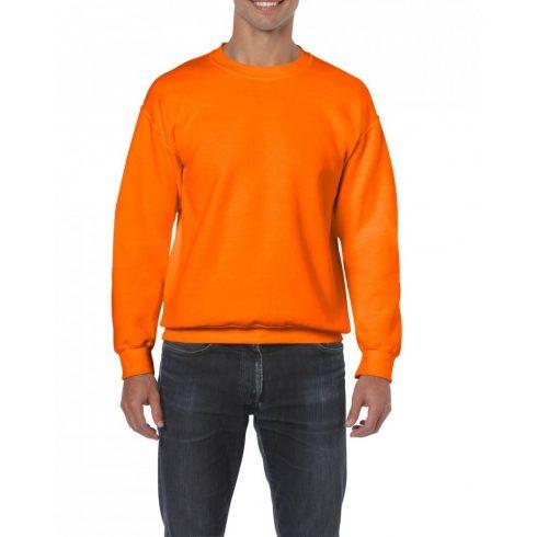 Gildan kereknyakú pulóver, biztonsági narancs