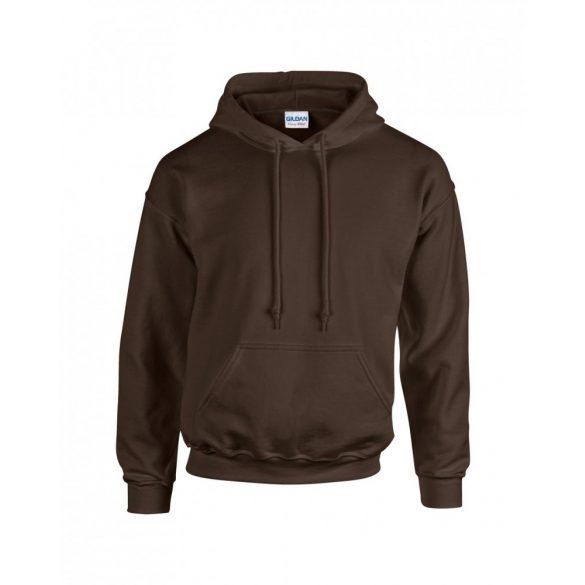 Gildan kapucnis pulóver, étcsokoládé