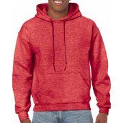 Gildan kapucnis pulóver, Heather Sport Scarlet Red