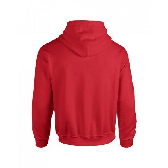 Gildan kapucnis pulóver, piros
