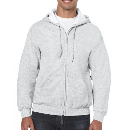 Gildan cipzáros-kapucnis pulóver, ash