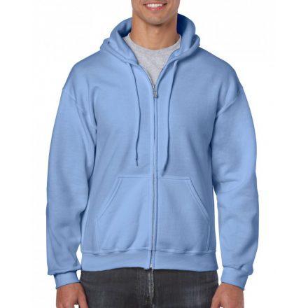 Gildan cipzáros-kapucnis pulóver, carolina kék