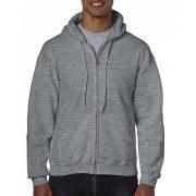Gildan cipzáros-kapucnis pulóver, grafit heather