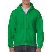 Gildan cipzáros-kapucnis pulóver, írzöld