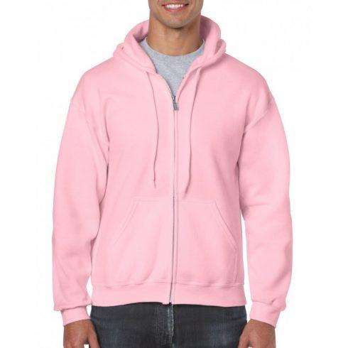 Gildan cipzáros-kapucnis pulóver, light pink
