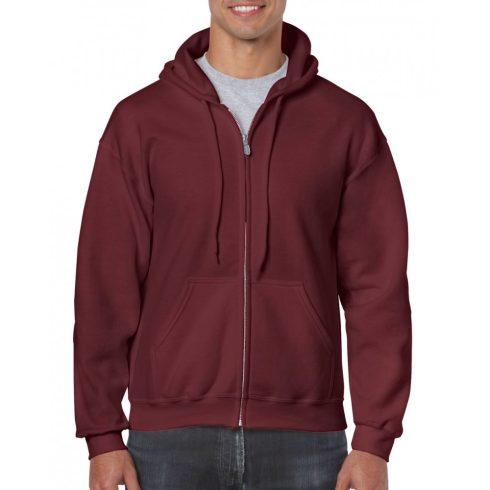 Gildan cipzáros-kapucnis pulóver, maroon