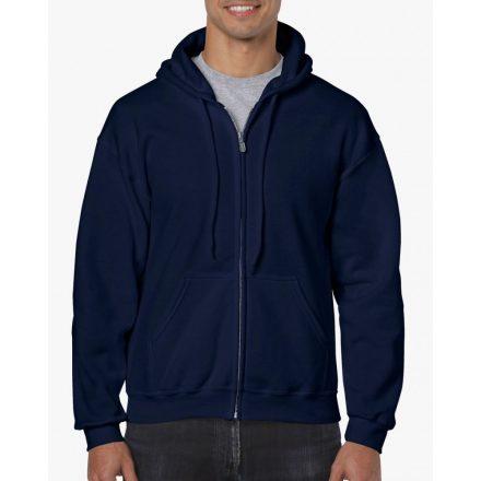 Gildan cipzáros-kapucnis pulóver, sötétkék