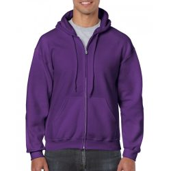 Gildan cipzáros-kapucnis pulóver, lila