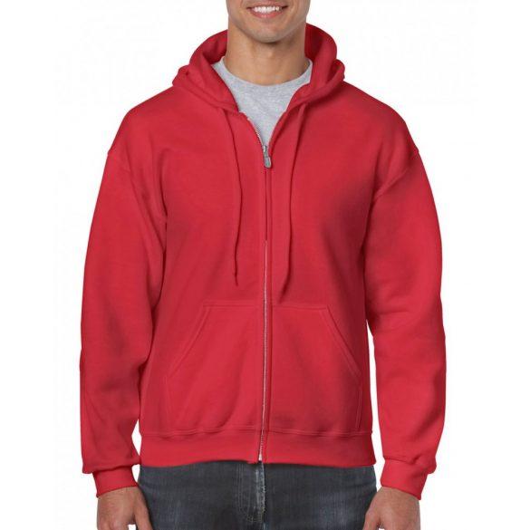 Gildan cipzáros-kapucnis pulóver, piros