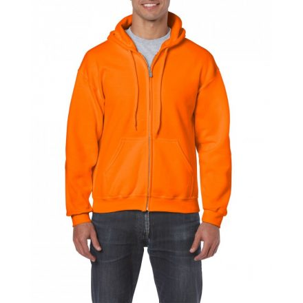 Gildan cipzáros-kapucnis pulóver, biztonsági narancs