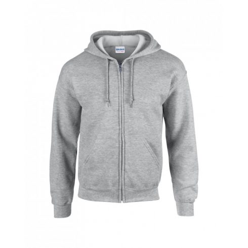 Gildan cipzáros-kapucnis pulóver, sportszürke