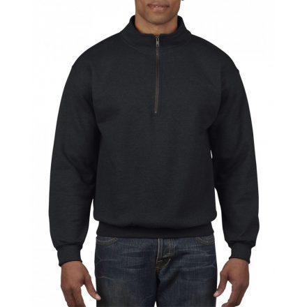 Gildan galléros pulóver, fekete