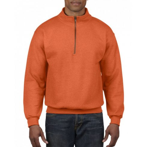 Gildan galléros pulóver, narancs