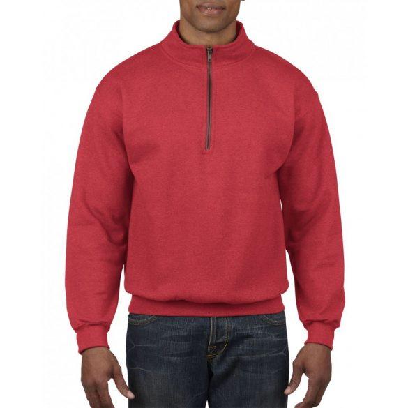 Gildan galléros pulóver, piros