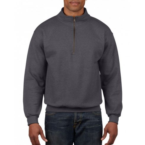 Gildan galléros pulóver, tweed