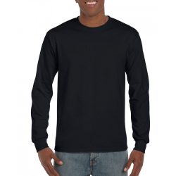 Gildan hosszúujjú póló, fekete,