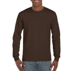 Gildan hosszúujjú póló, étcsokoládé