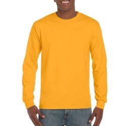 Gildan hosszúujjú póló, aranysárga