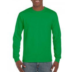 Gildan hosszúujjú póló, írzöld