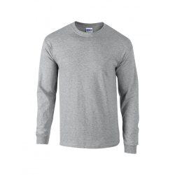 Gildan hosszúujjú póló, sportszürke