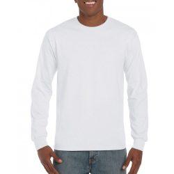 Gildan hosszúujjú póló, fehér