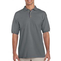 Gildan galléros pamut póló, faszénszürke