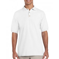 Gildan galléros pamut póló, fehér