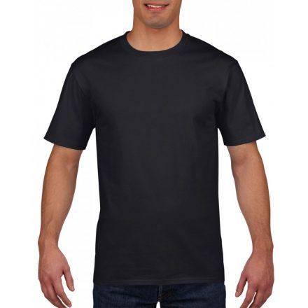 Gildan prémium pamut póló, fekete