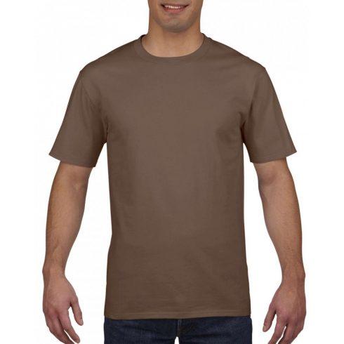 Gildan prémium pamut póló, chestnut