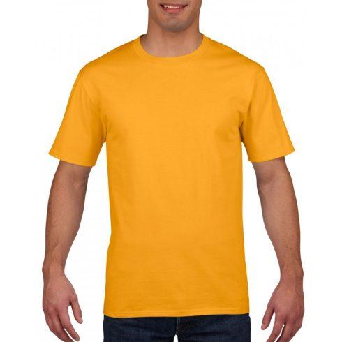 Gildan prémium pamut póló, aranysárga