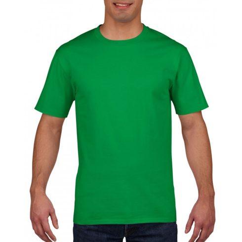 Gildan prémium pamut póló, írzöld