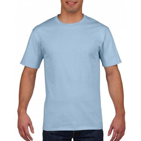 Gildan prémium pamut póló, világoskék