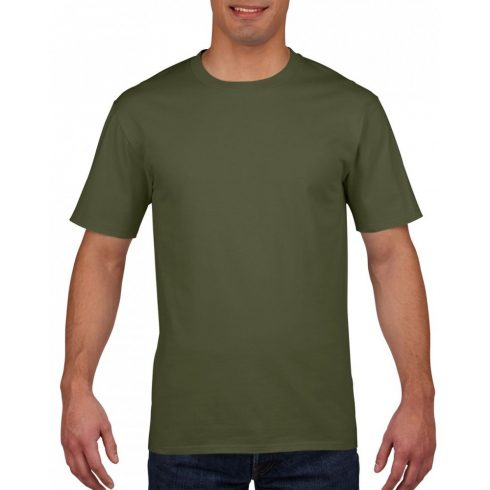 Gildan prémium pamut póló, katonaizöld
