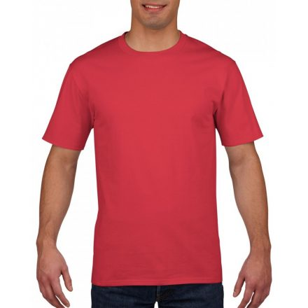 Gildan prémium pamut póló, piros