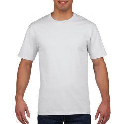 Gildan prémium pamut póló, fehér