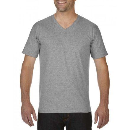 Gildan V nyaku prémium póló, sportszürke