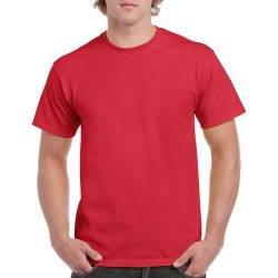 Gildan környakas póló, piros