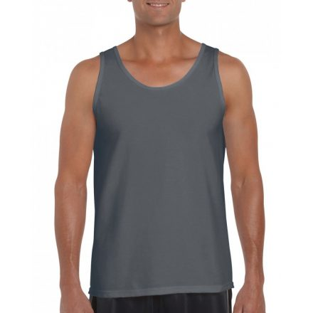 Gildan ujjatlan férfi póló, faszénszürke