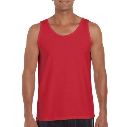 Gildan ujjatlan férfi póló, piros